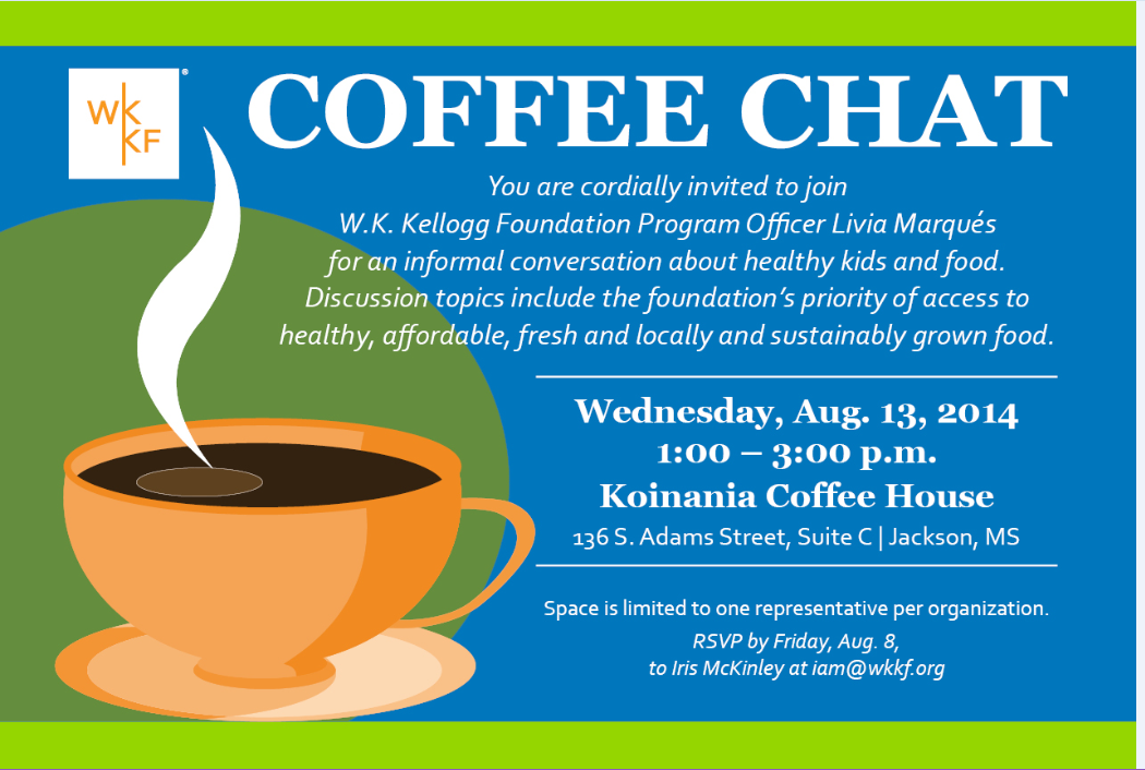 coffee chat with w k  kellogg foundation program officer 8